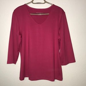Susan Graver Essentials pink Top slinky Large